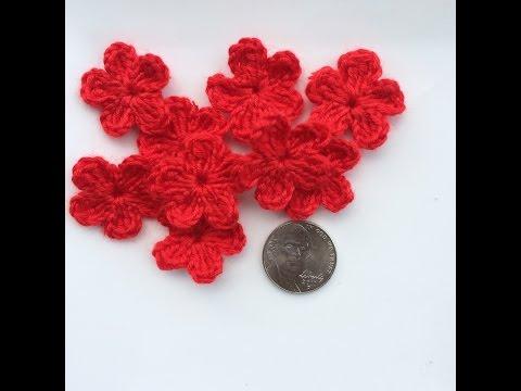 สอนวิธีถัก ดอกไม้ 5 กลีบโครเชต์แบบง่าย-Crochet A Flower easy