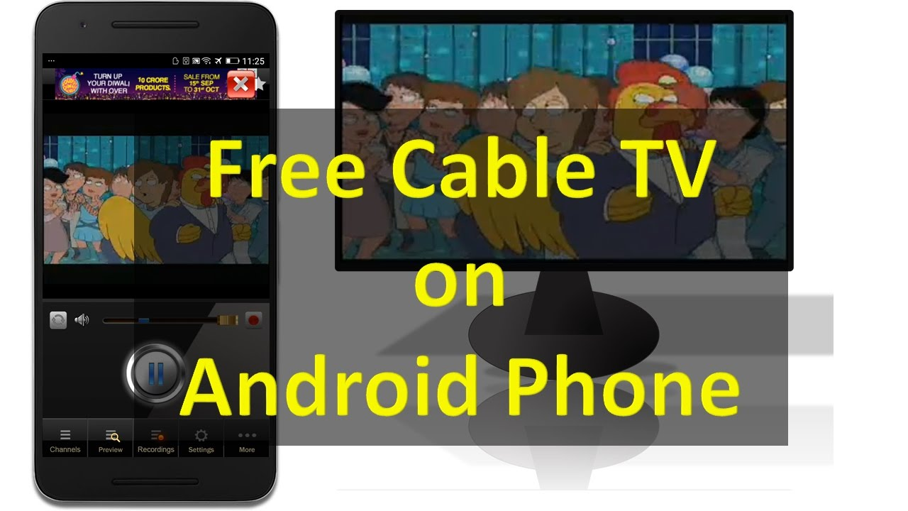 watch free cable tv live tv on any android smartphone without