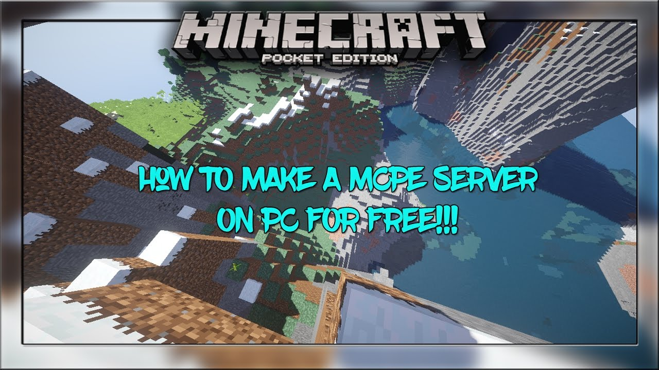 How To Make An MCPE SERVER On PC For FREE Minecraft PE Pocket - Minecraft pe server erstellen raspberry pi