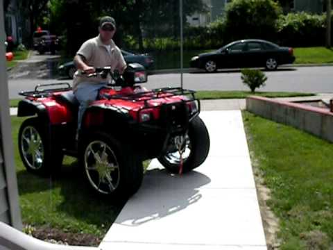 Custom Atv Wheels Awesome 4x4 Honda Big Rims Youtube