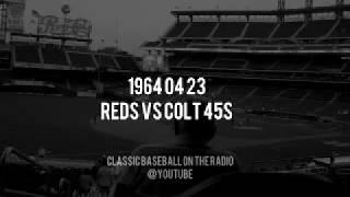 1964 04 23 Reds at Houston Colt 45s