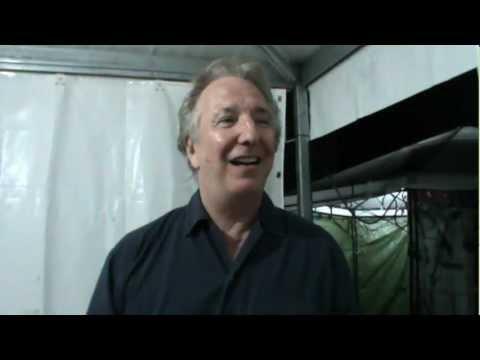 Intervista Alan Rickman al festival internazionale del teatro romano di Volterra