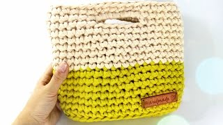 Сумка крючком. Трикотажная пряжа / Crochet bag