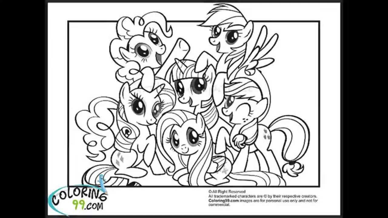my little pony coloring pages - youtube