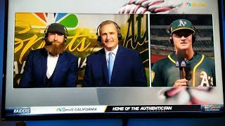 Oakland A's Matt Chapman NBC Sports CA post game interview. 8/13/18. Rally Cry. Come out and support