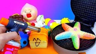 Вафли из Сквиши / Горелка против Сквиши / Поджарил и расплавил игрушки Антистресс Squishy