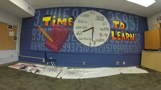 Art Club Math Mural Time Lapse