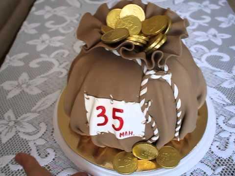 торт мешочек с монетами фото мечтал петь песни
