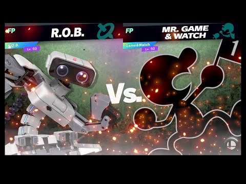 Super Smash Bros Ultimate Amiibo Fights Request #2336 ROB vs Mr  Game & Watch