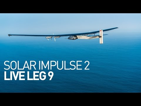 LEG 9 LIVE: Solar Impulse Airplane - Landing in Mountain Vie
