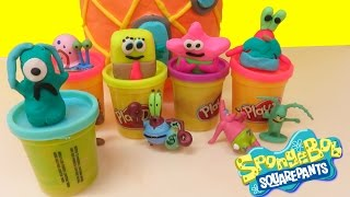 Play-Doh Tutorial: How To Make SpongeBob Patrick Star Krabs Plankton And Pineapple