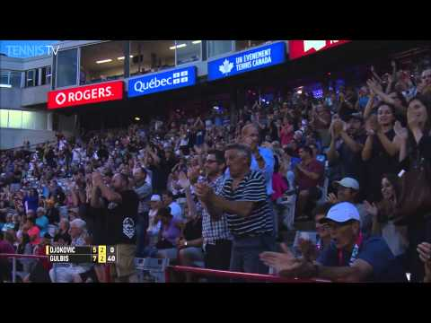 Gulbis Digs Deep For Running Backhand Hot Shot In Montreal 2015