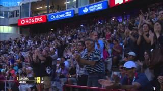 Gulbis Digs Deep For Running Backhand Hot Shot In Montreal 2015