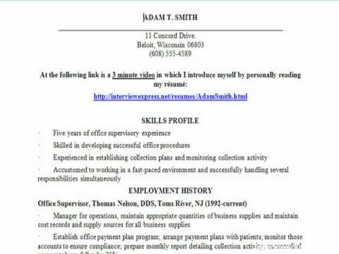 The Amazing New Click Video Resume for Employers and Job Hunters Unemployed Resume builder