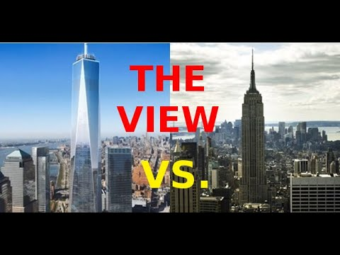 Empire State VS One World Trade Center I Top Deck of NYC