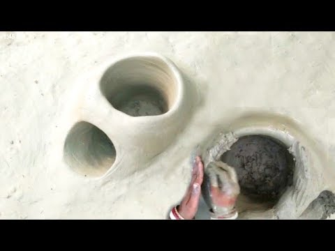 Primitive Technology Clay Oven Making For Cooking    Mud Oven At Village For Cooking