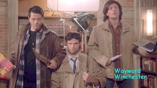 Supernatural Season 8 - 14 GAG REEL Supercut | Funny Supernatural Bloopers VS Real Life