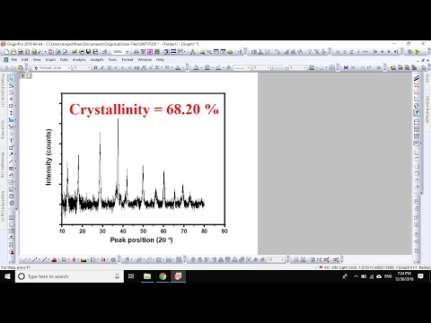 How To Calculate Crystallinity From XRD Data Using OriginPro