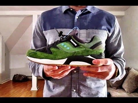 online retailer dada5 13f74 Saucony Grid 9000 Premium Green - ON FEET + Collection @Saucony