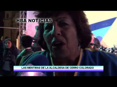 LAS MENTIRAS DE LA ALCALDESA DE CERRO COLORADO  YENNY VALDIVIA - HBA NOTICIAS