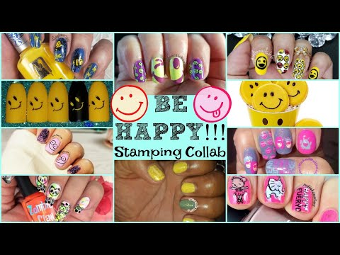 Stamping Nail Art Tutorial | Be Happy Facebook Group Collab | judinkanailart ✓ thumbnail