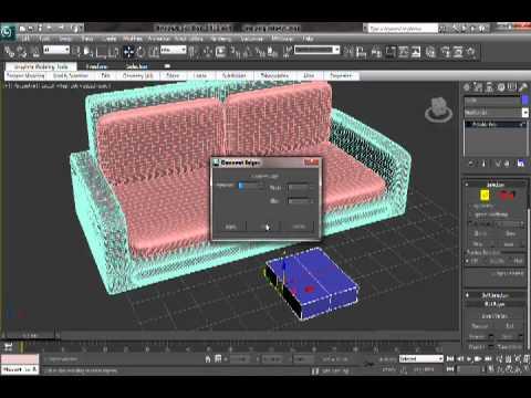 3d max sofa tutorial youtube for Modelar habitacion 3d max