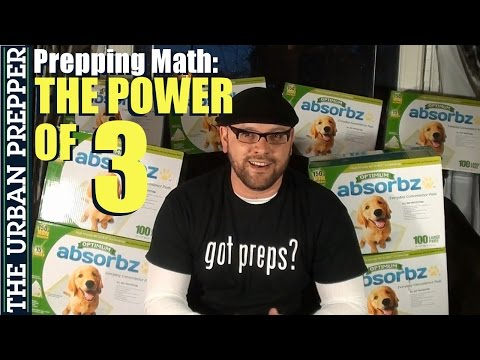 Prepping Math: The Power of 3 by TheUrbanPrepper