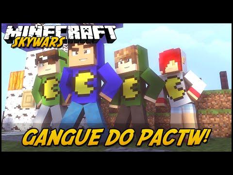 Minecraft: GANGUE DO PAC! (SKYWARS)