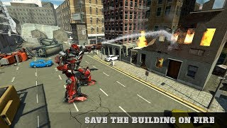 Real Robot Firefighter Truck Transform Robot Game (By White Sand - 3D Games Studio) Gameplay HD