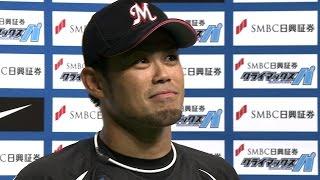 【プロ野球パ】8番・今江が大当たり!大活躍のヒーローインタビュー 2015/10/10 F-M
