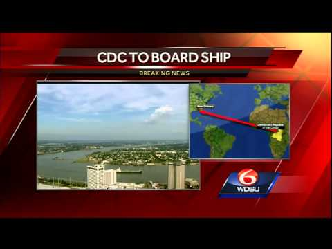 Health officials to board cargo ship from Congo in New Orleans
