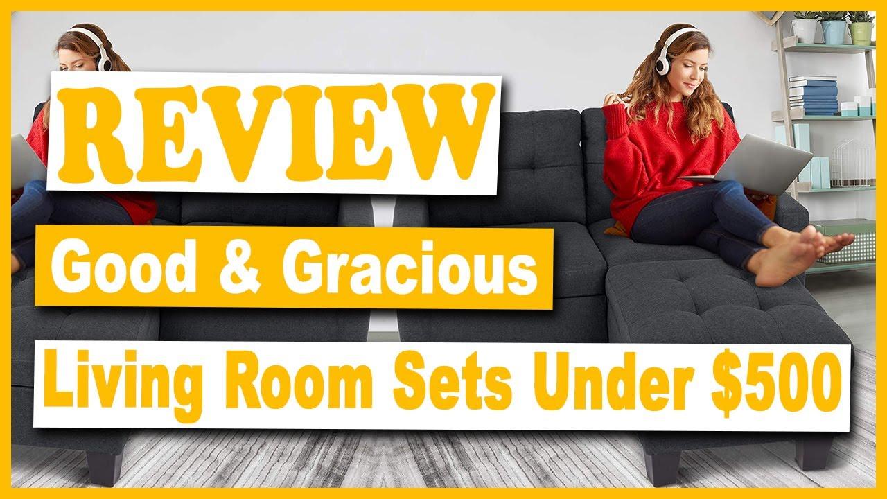 Gracious Sectional Sofa Set Under 500