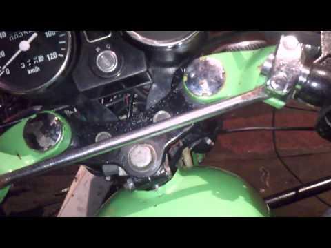 Как установить клипоновый руль на мотоцикл Минск+звук работы выхлопной трубы с резонатором.