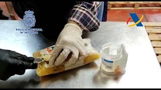 Incautados en Madrid 800 kilogramos de cocaína mezclada con pulpas de piña congelada
