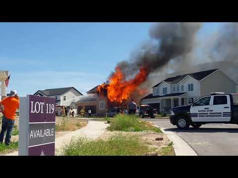 House fire, Saratoga Springs, Utah, June 5th 2018