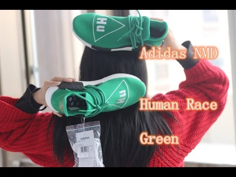 2016 Mens and Womens Pharrell Williams NMD HUMAN RACE Green