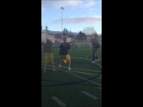 Ty Marshall 2014 QB work out with NFL Coach Chris Miller