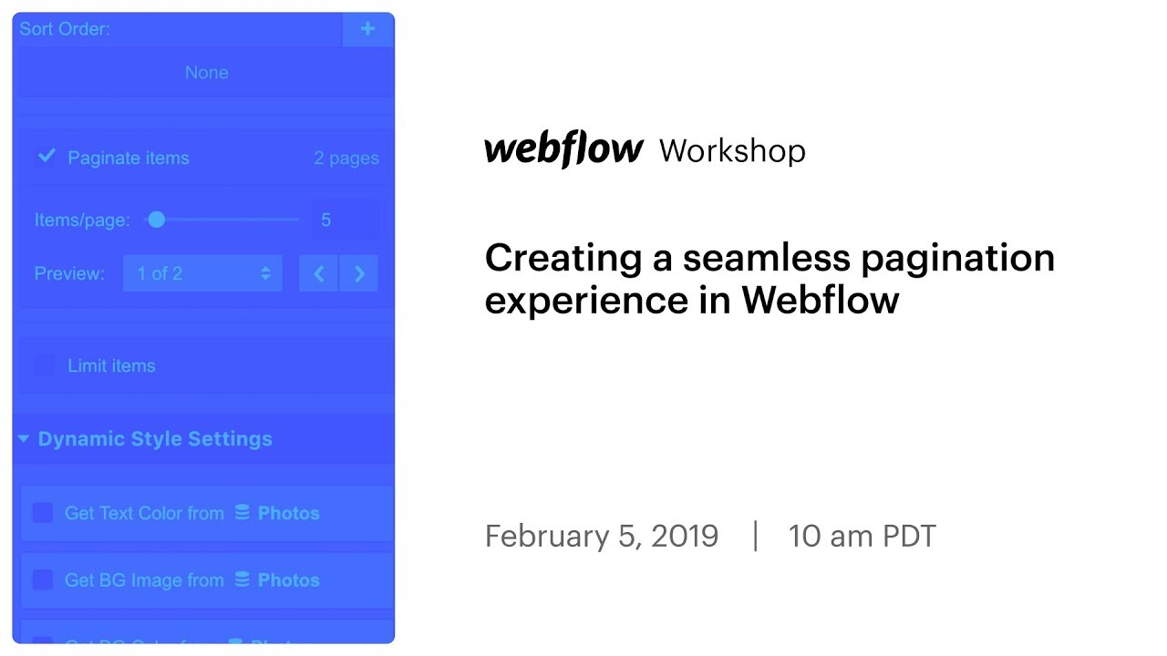 Creating a seamless pagination experience in Webflow