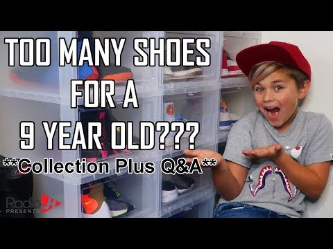 SHOE COLLECTION Plus Q A | 9 Year Old SNEAKER HEAD from YouTube · Duration:  26 minutes 34 seconds