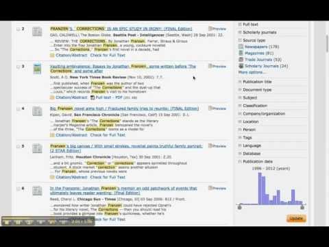 How To Search For Articles In ProQuest