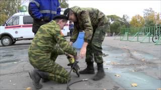 В демонстрации спецтехники пожарных и спасателей приняли участие кадеты школы № 15