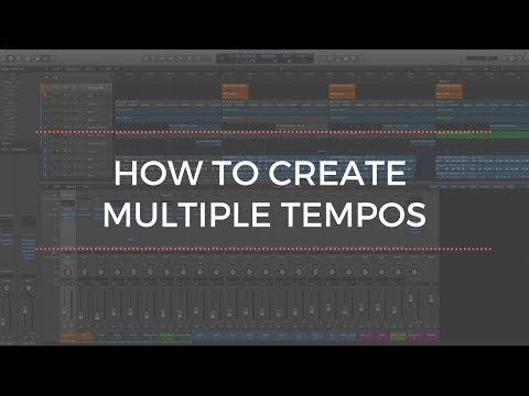 Logic Pro X Tutorial: How To Create Multiple Tempos in a Session