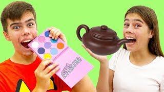A Nastya y Artem se les ocurrió un juego de chocolate