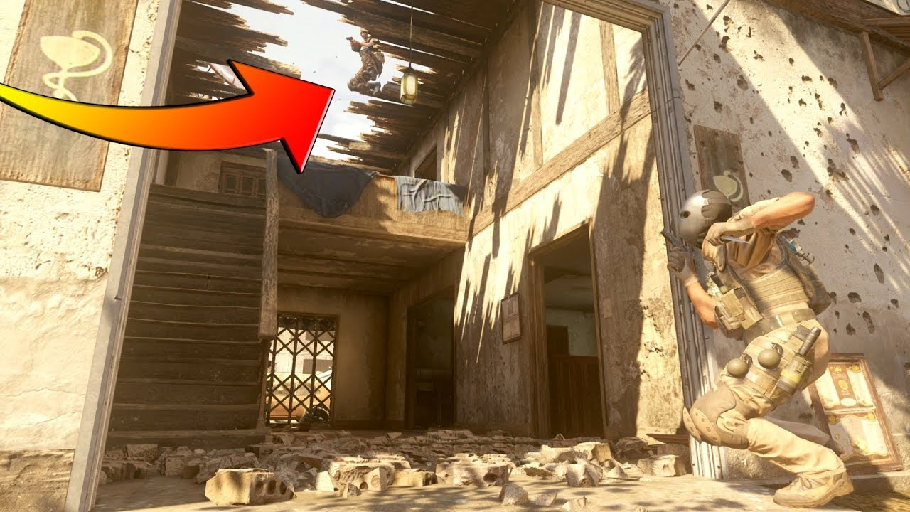 HE WAS HIDING OUT ON TOP OF THE ROOF?!?!?! HIDE N' SEEK ON COD 4 REMASTERED!