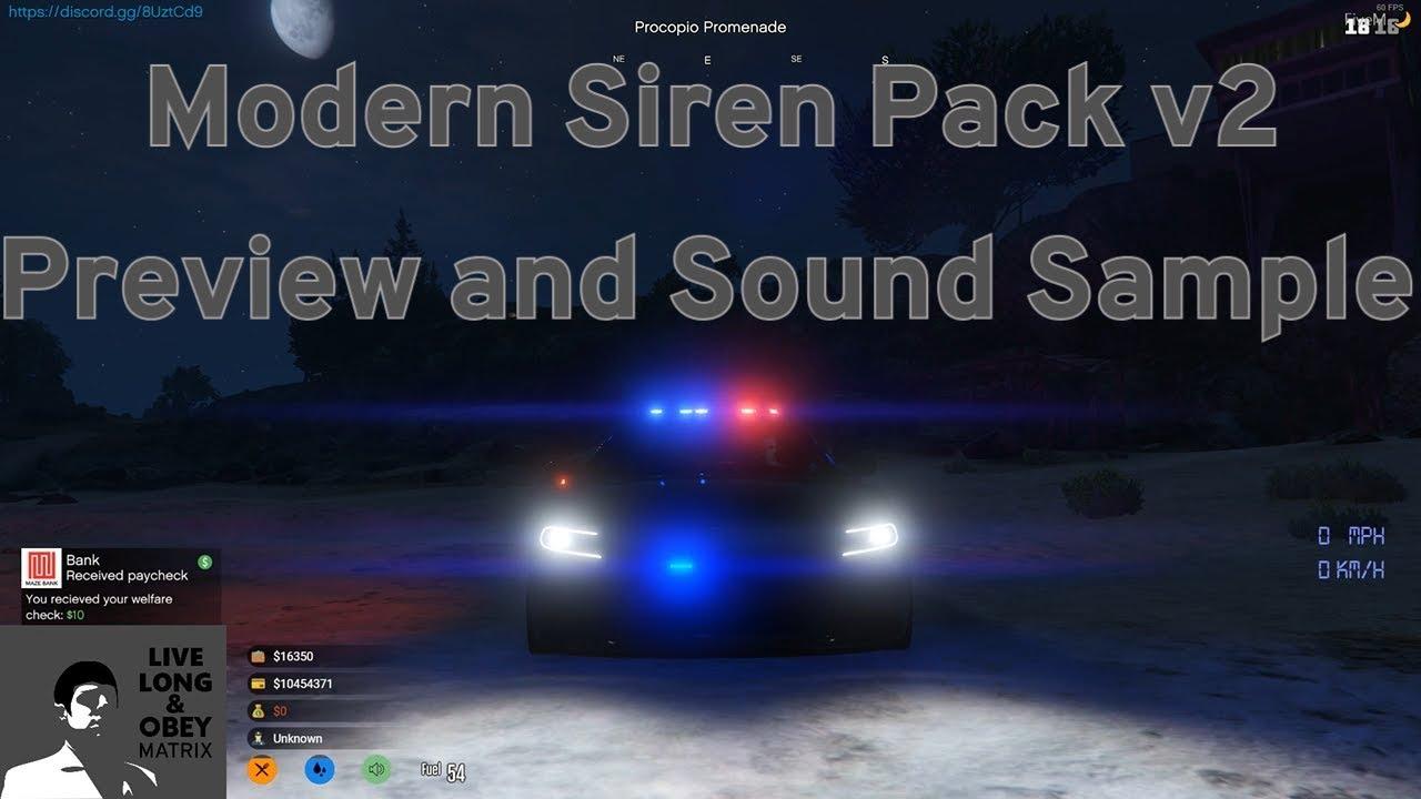 Modern Siren Pack FiveM v2 Preview - Sound Samples