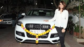 Bipasha Basu Drives New Audi Q7 SUV !