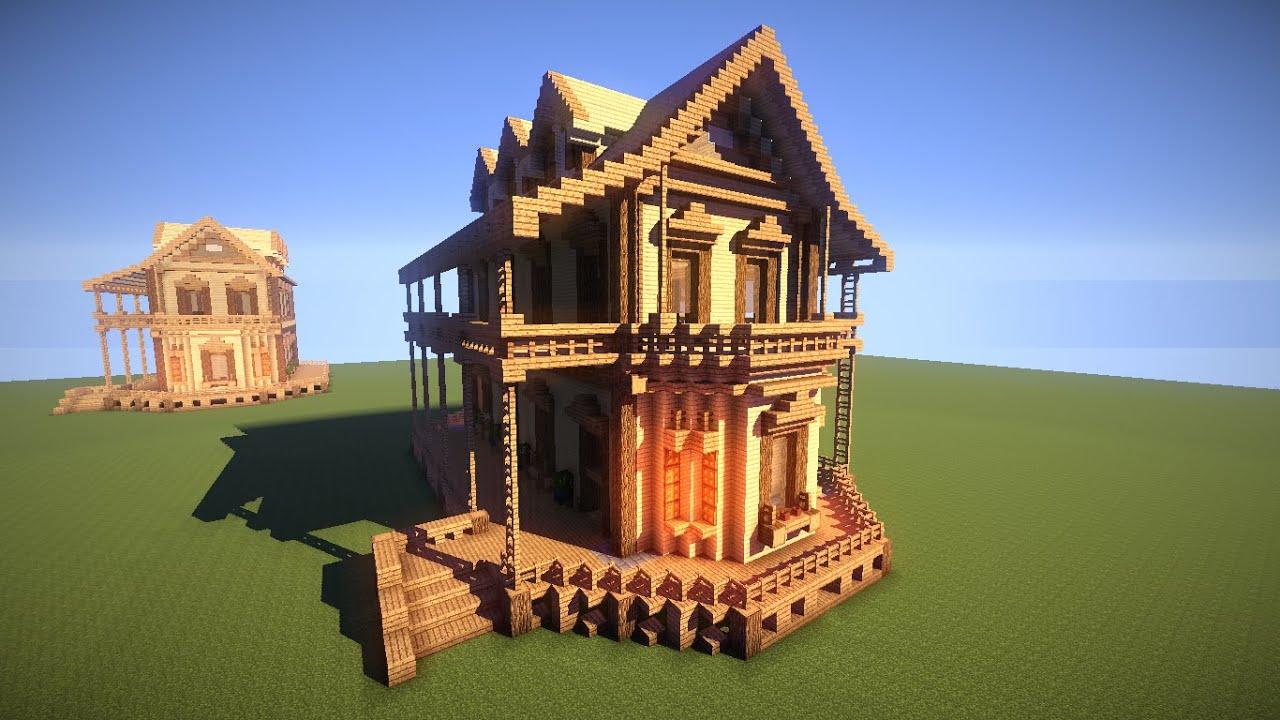 Minecraft Como Fazer uma Casa de Madeira 3 Parte 2  YouTube -> Como Fazer Banheiro Moderno No Minecraft