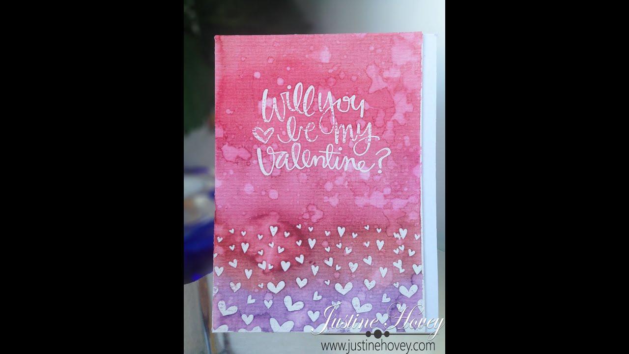 3 Cards 1 Stamp Feb 2015 Paper Hug Card 2 Watercolour