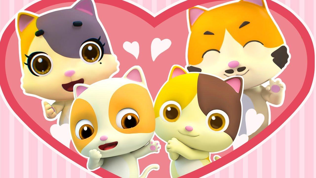 Bayi Kucing Sayang Keluarganya | Lagu Anak-anak | BabyBus Bahasa Indonesia