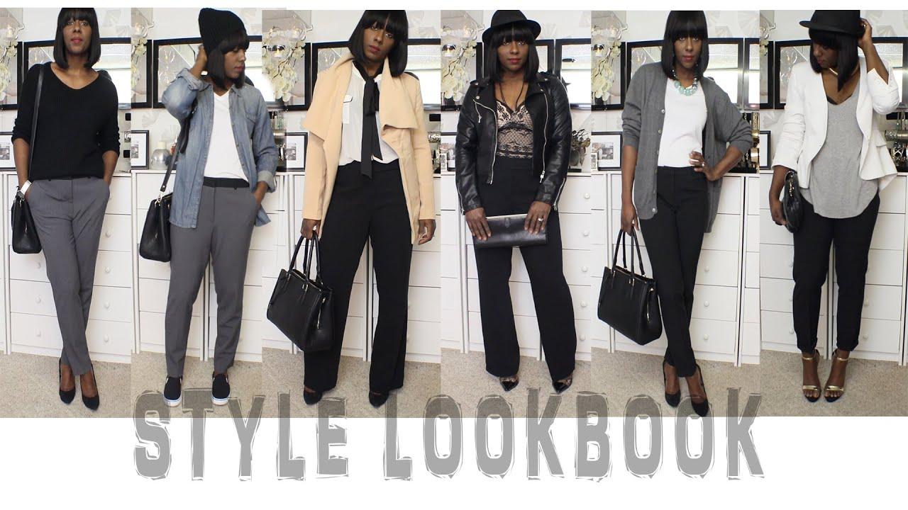 Style Lookbook Pairing Slacks Minimalist Wardrobe